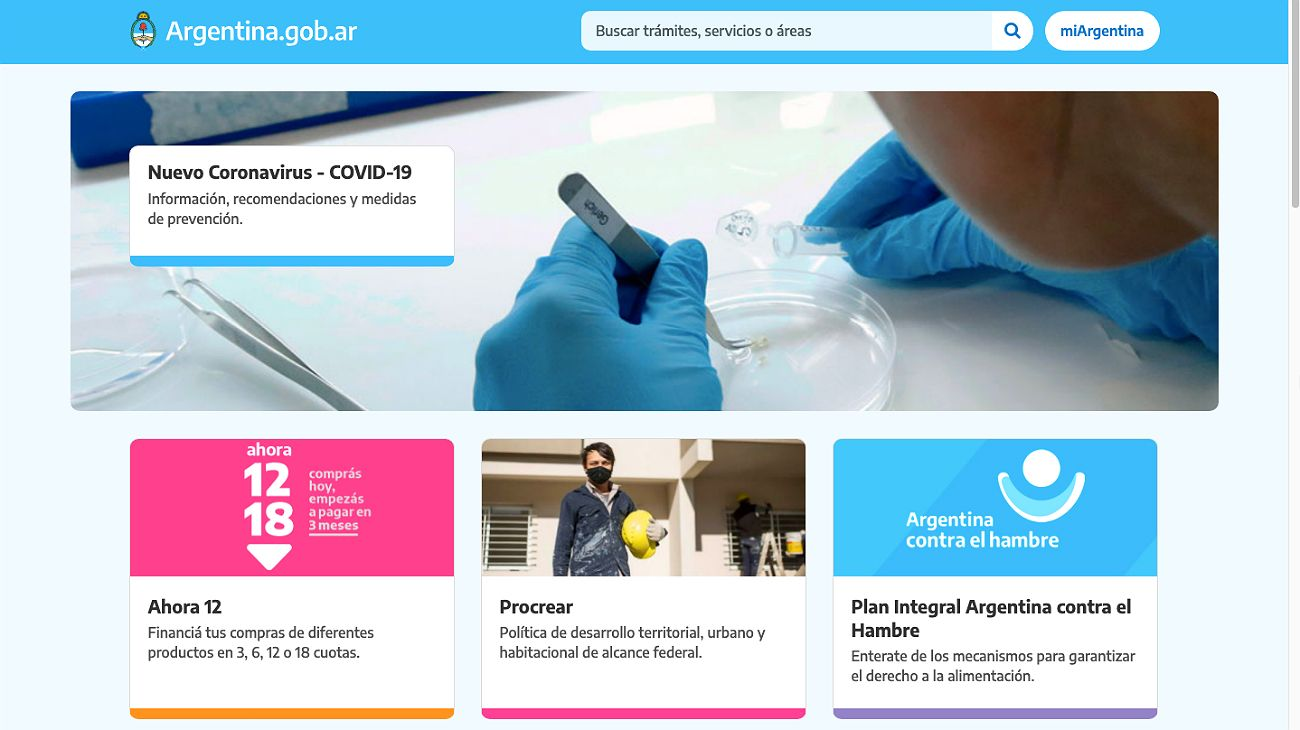 El sitio Argentina.gob.ar hackeado.