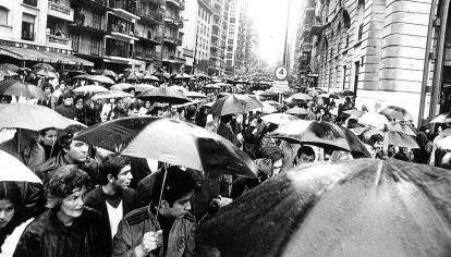 FUNERAL DE PERÓN. El líder político murióel 1º de julio de 1974 a los 78 años. Su cuerpo fue velado durante dosdías en el Congreso por donde pasaron un estimado de 200.000 personas.