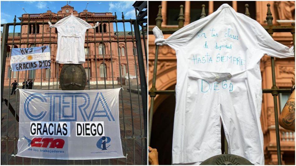 CTERA en la despedida a Maradona.