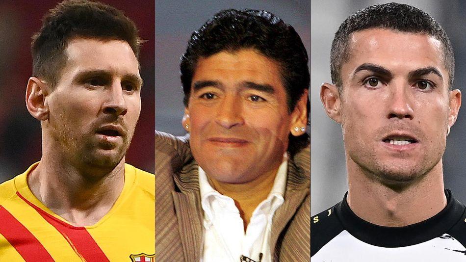 Messi Diego y Cristiano 20201126