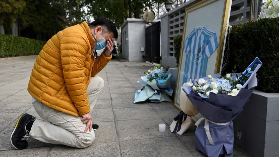 Despedida a Maradona en Beijing, China