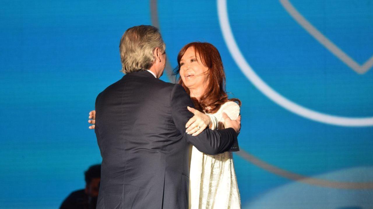 Alberto Fernández y Cristina Kirchner en tiempos mejores