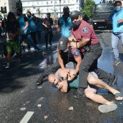 Detención en las inmediaciones de Casa Rosada