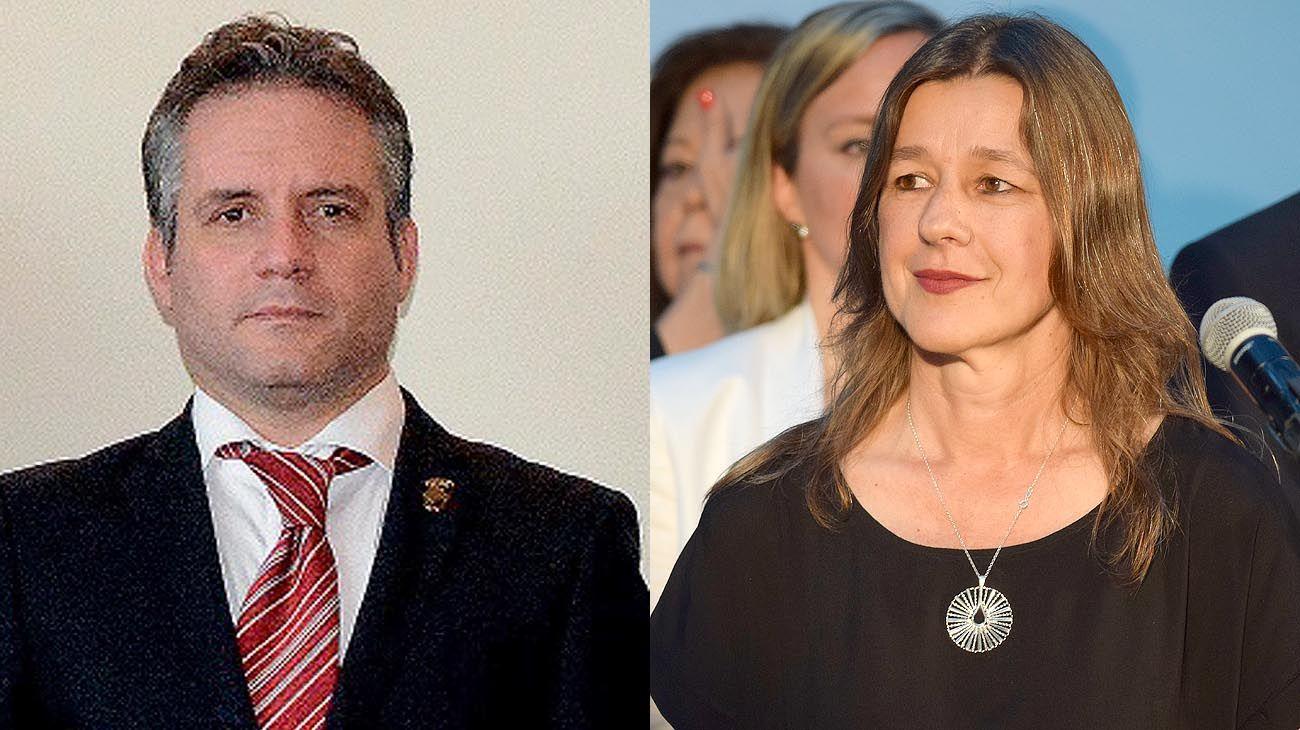 Marcelo D'Alessandro y Sabina Frederic