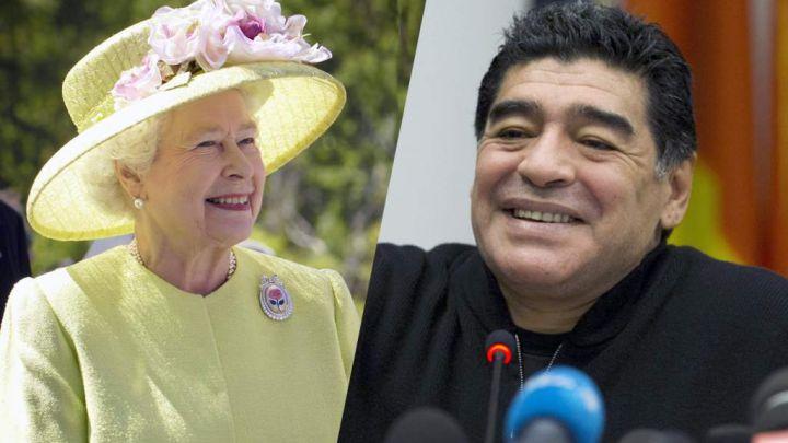 El día que Diego Maradona encaró a la Reina Isabel
