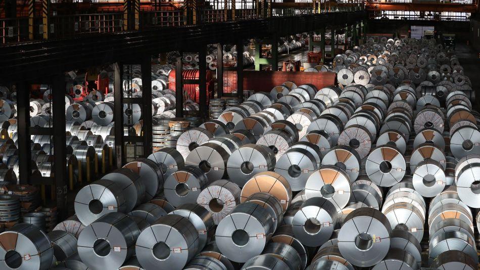 Steel Production Inside A Salzgitter AG Metals Plant