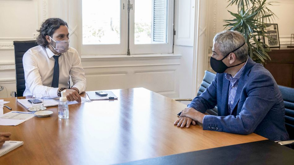 Cafiero y Ferraresi analizaron los planes de vivienda del Gobierno nacional.