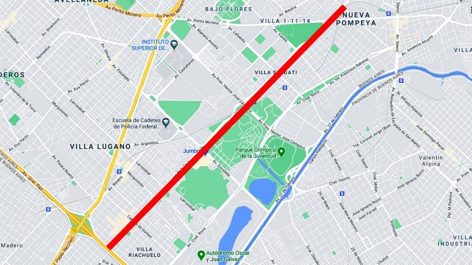 Proyecto de renombrar la avenida Fernández de la Cruz a Néstor Kirchner.