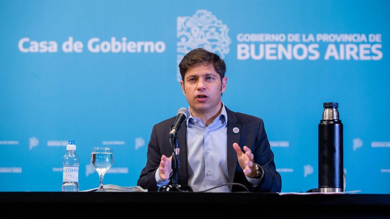 El gobernador de Buenos Aires, Axel Kicillof.