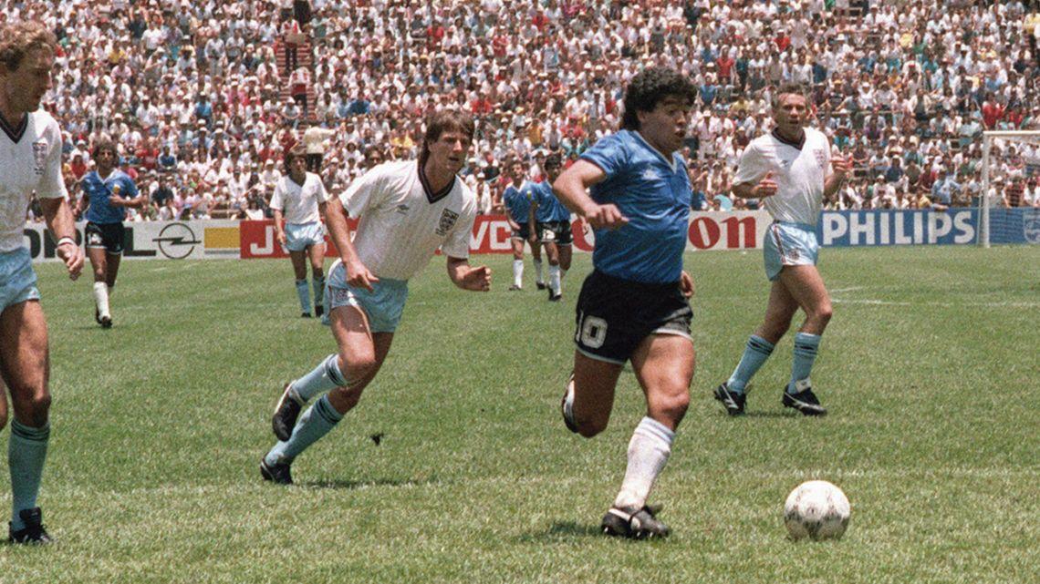 Maradona, 1986, versus England in Mexico.