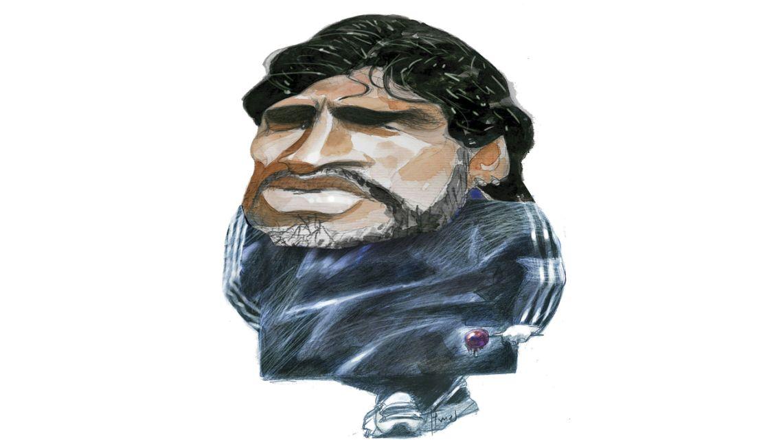 Maradona, a football legend.