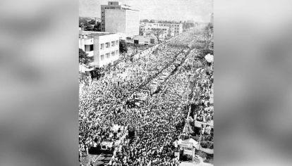 Funeral récord. 15 millones de personas despidieron a C.N. Anandurai en 1969 sin incidentes.