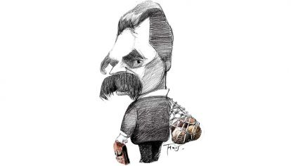 Friedrich Nietzsche y las pelotas.