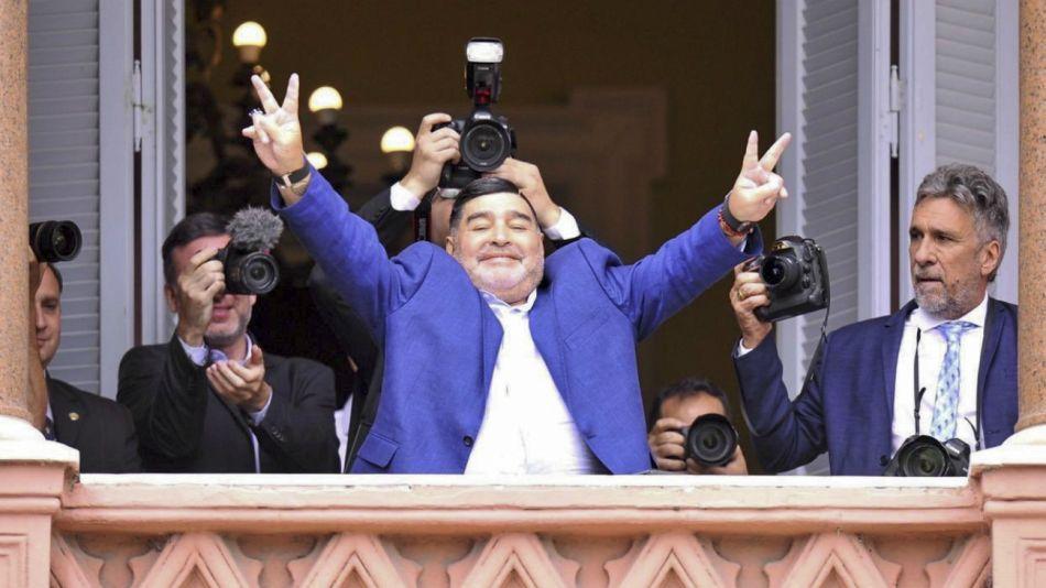 En el balcón. El 26 de diciembre de 2019, cuando visitó a Alberto Fernández a pocos días de que asumiera la Presidencia.