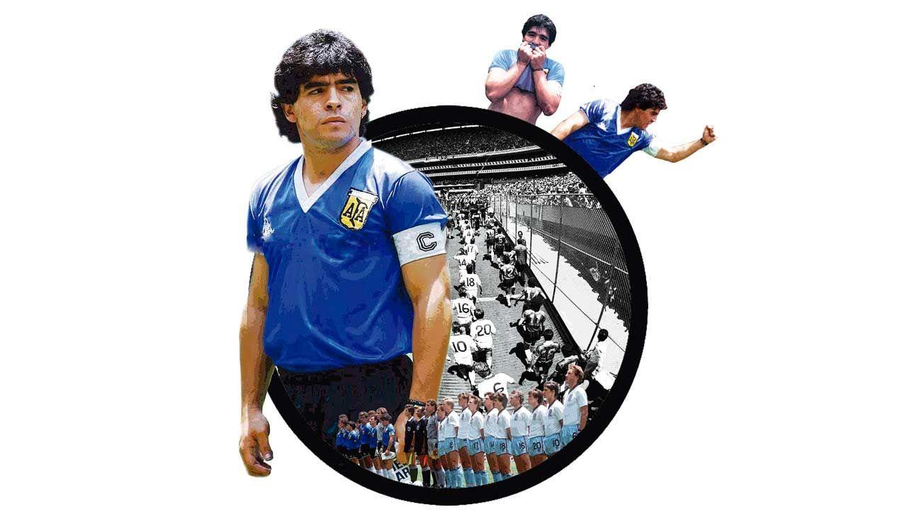 Elegido por votación popular el mejor gol de los mundiales, la fantástica corrida de Diego ante los ingleses lo catapultó al Olimpo del fútbol.
