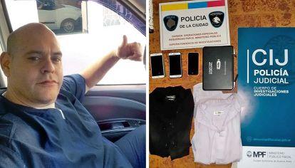 Libre. Diego Molina dejó sus datos en la comisaría y se fue a su casa. La policía allanó la vivienda de uno de los empleados y la funeraria donde se tomaron las imágenes.