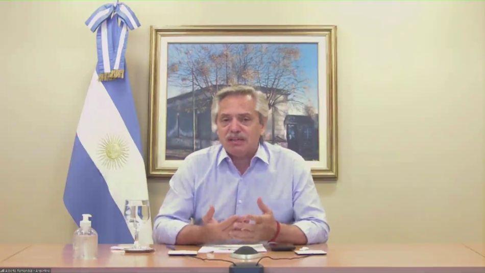 Alberto Fernández festejó por zoom con Llamosas su triunfo en Río Cuarto