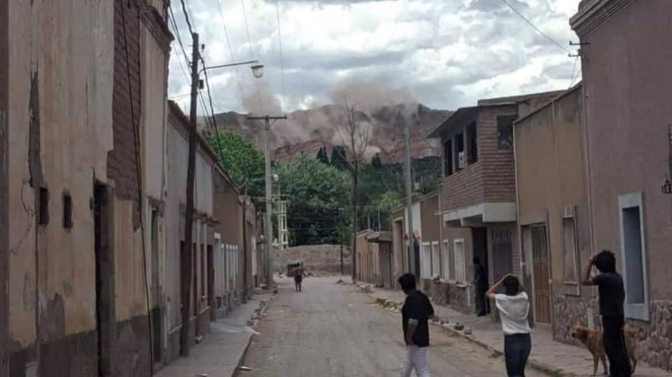 Temblor en Jujuy (Imagen tomada por usuarios de Twitter)
