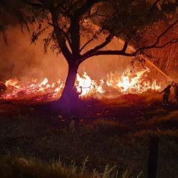 Bomberos y brigadistas siguen trabajando a destajo para extinguir los focos de incendio.