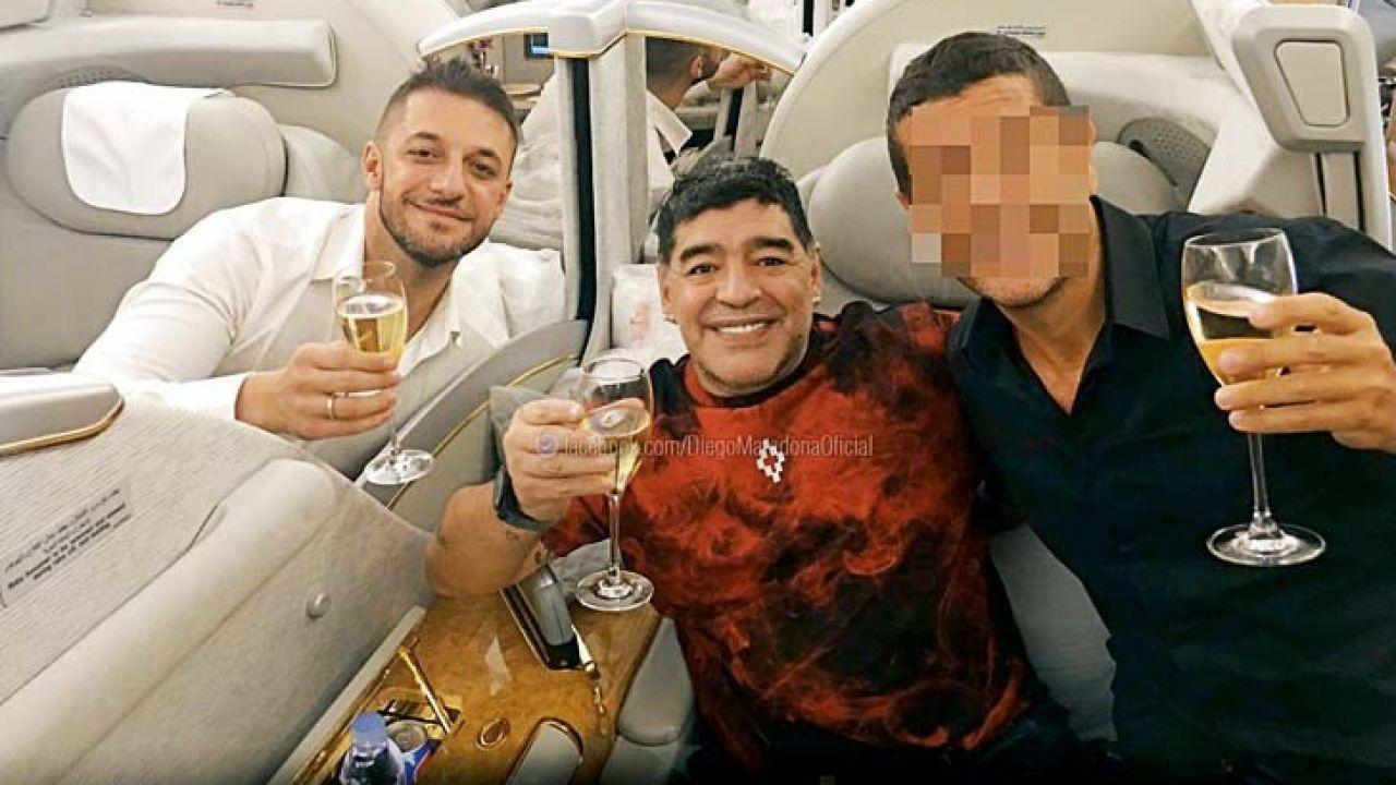 Morla con Maradona
