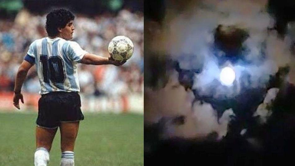 Silueta Maradona Nubes