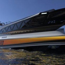 El barco fue diseñado por un equipo de Lazzarini Design.