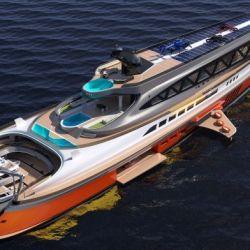 Todo el barco ha sido realizado en carbono y aluminio.