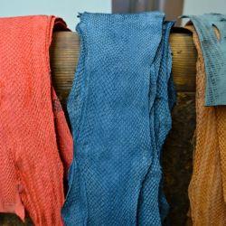 Textiles realizados a partir de desechos de pescado