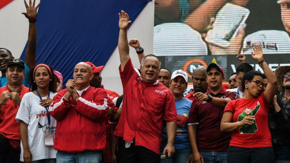 El primer vicepresidente del Partido Socialista Unido de Venezuela (PSUV), Diosdado Cabello