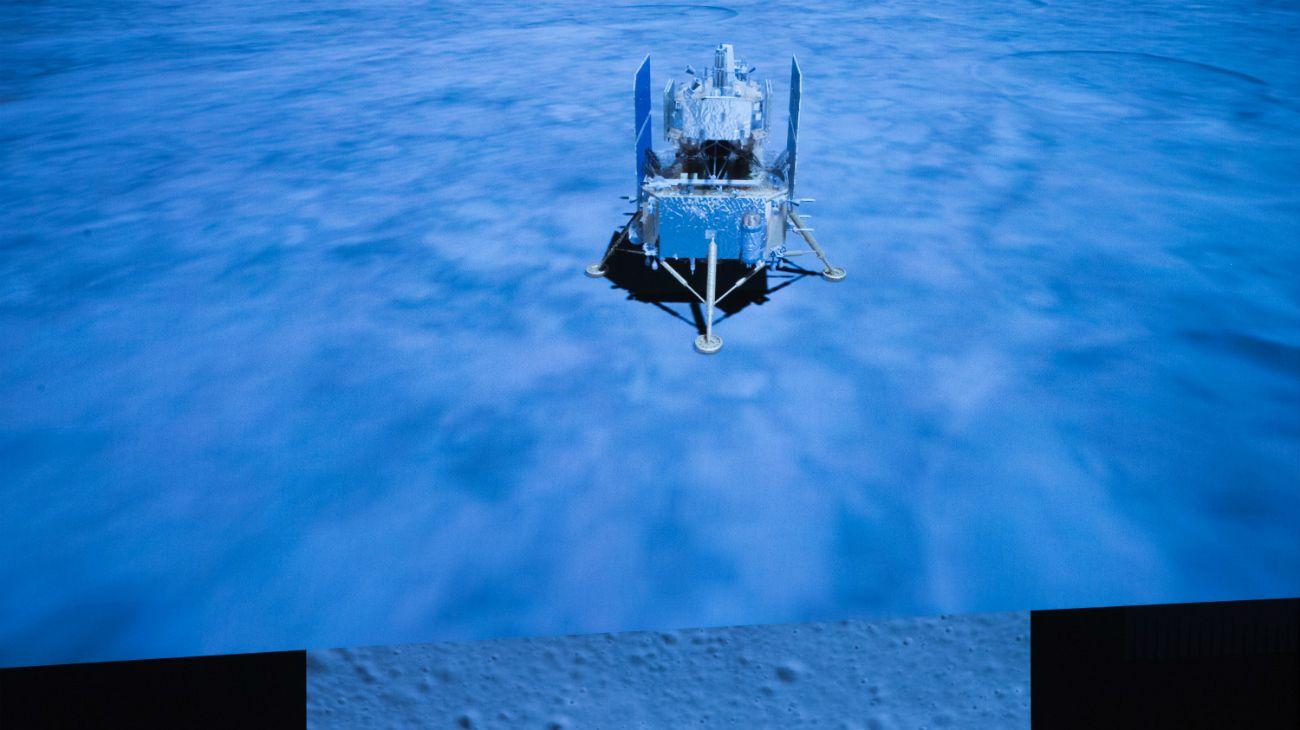China explora la Luna: la sonda Chang'e ya está sobre la superficie lunar