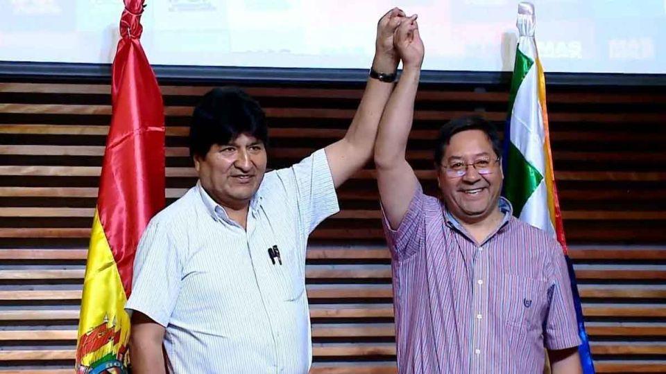 Evo y el presidente Luis Arce representan los dos proyectos que viven dentro del MAS.
