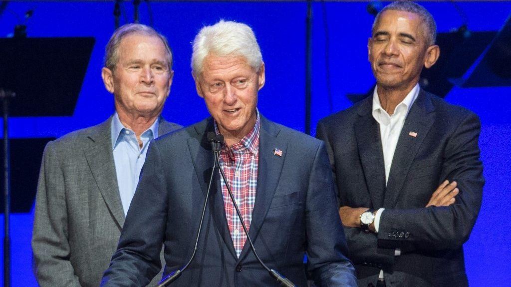 Bush, Obama y Clinton, juntos contra el Covid (AFP)
