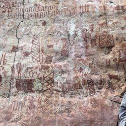 Los autores de estas obras de arte fueron los primeros homínidos que llegaron a la Amazonia colombiana.