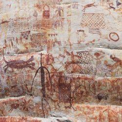 Las espectaculares pinturas rupestres halladas tenían un significado sagrado para los pobladores.