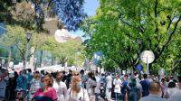 Protesta de médicos en reclamo por mejoras salariales.