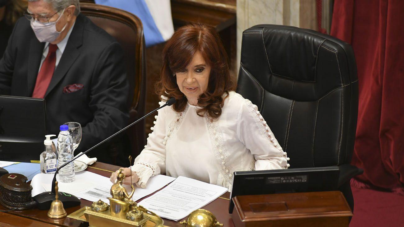 La vicepresidenta Cristina Kirchner puede definir si hay empate
