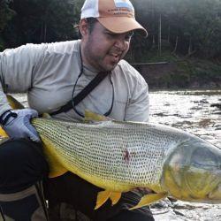 Pesca de dorados en el río Juramento, Salta.