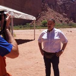El gobernador de La Rioja, Ricardo Quintela, firmó convenios en la repertura del parque.