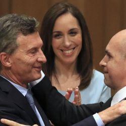 Mauricio Macri, Horacio Rodríguez Larreta y María Eugenia Vidal | Foto:Cedoc