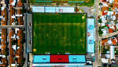 Viajes en dron: así se ve el estadio de Arsenal Fútbol Club