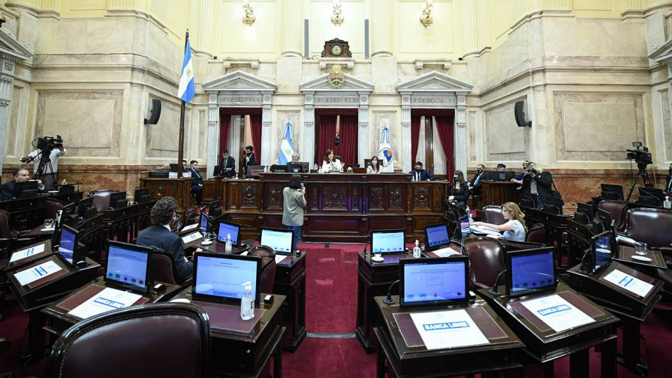 Votación del impuesto solidario en el Senado.