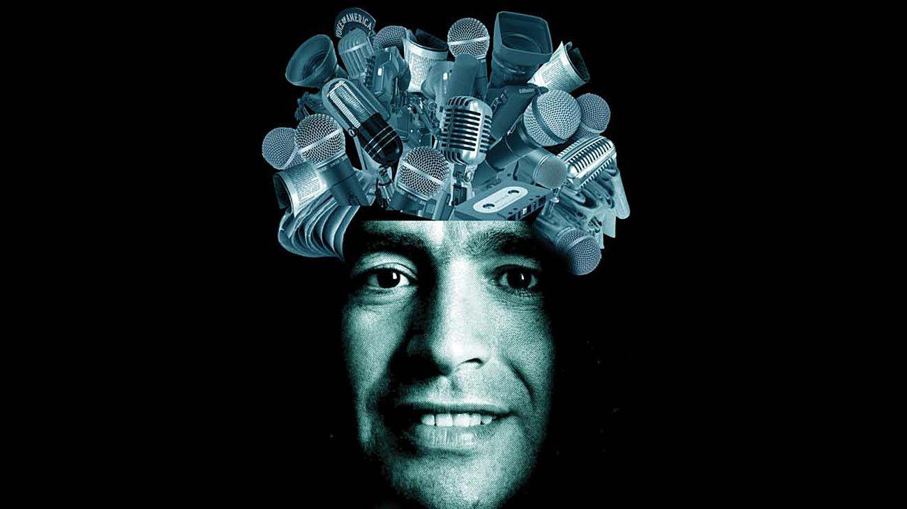 Maradona y los medios.