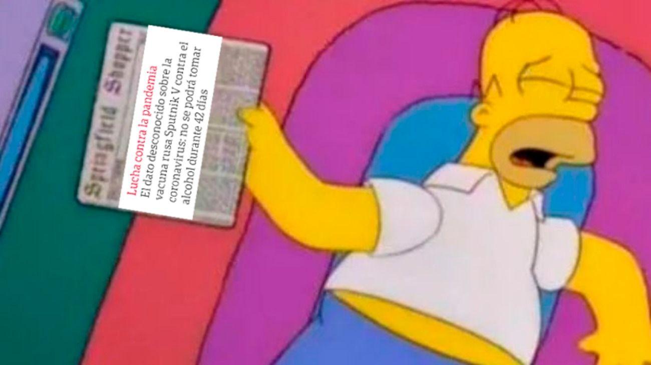 Los memes en Twitter por la recomendación de restringir el alcohol tras la aplicación de la vacuna rusa.