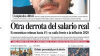 tapa Diario PERFIL domingo 6 de diciembre 2020
