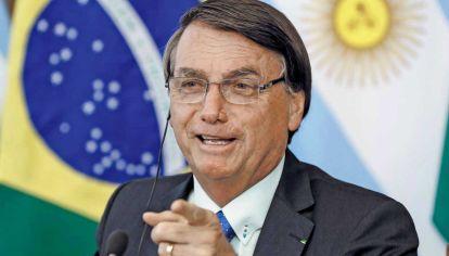 Bolsonaro. El jefe de Estado brasileño dialogó esta semana por primera vez con Alberto Fernández.