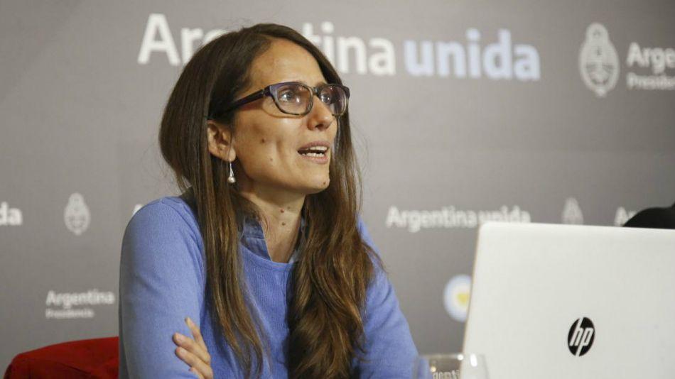 La ministra de las Mujeres, Géneros y Diversidad de la Nación, Elizabeth Gómez Alcorta.