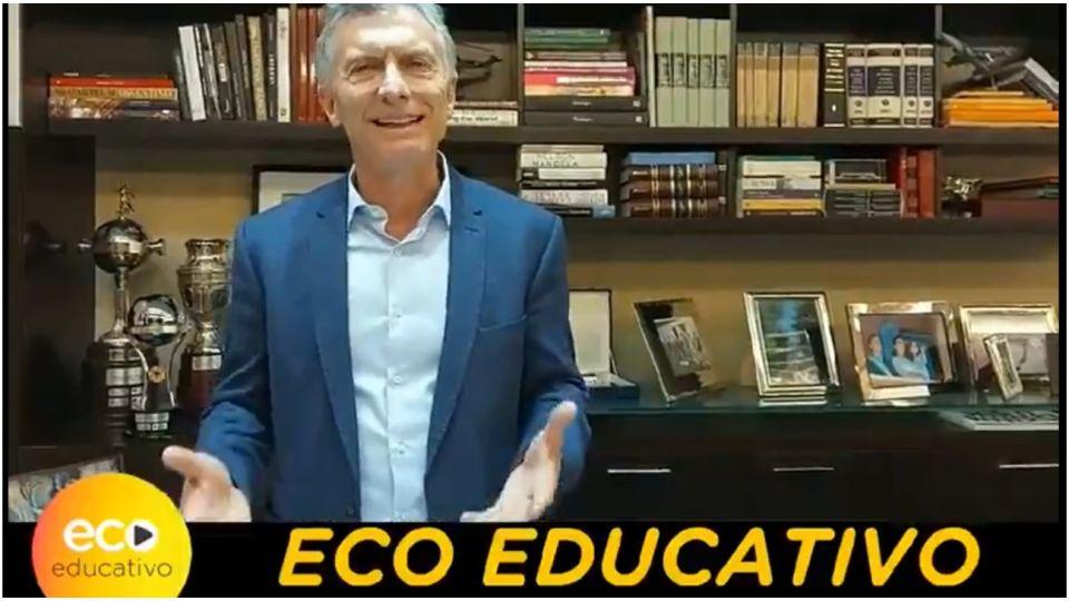Mauricio Macri y su mensaje sobre la educación.