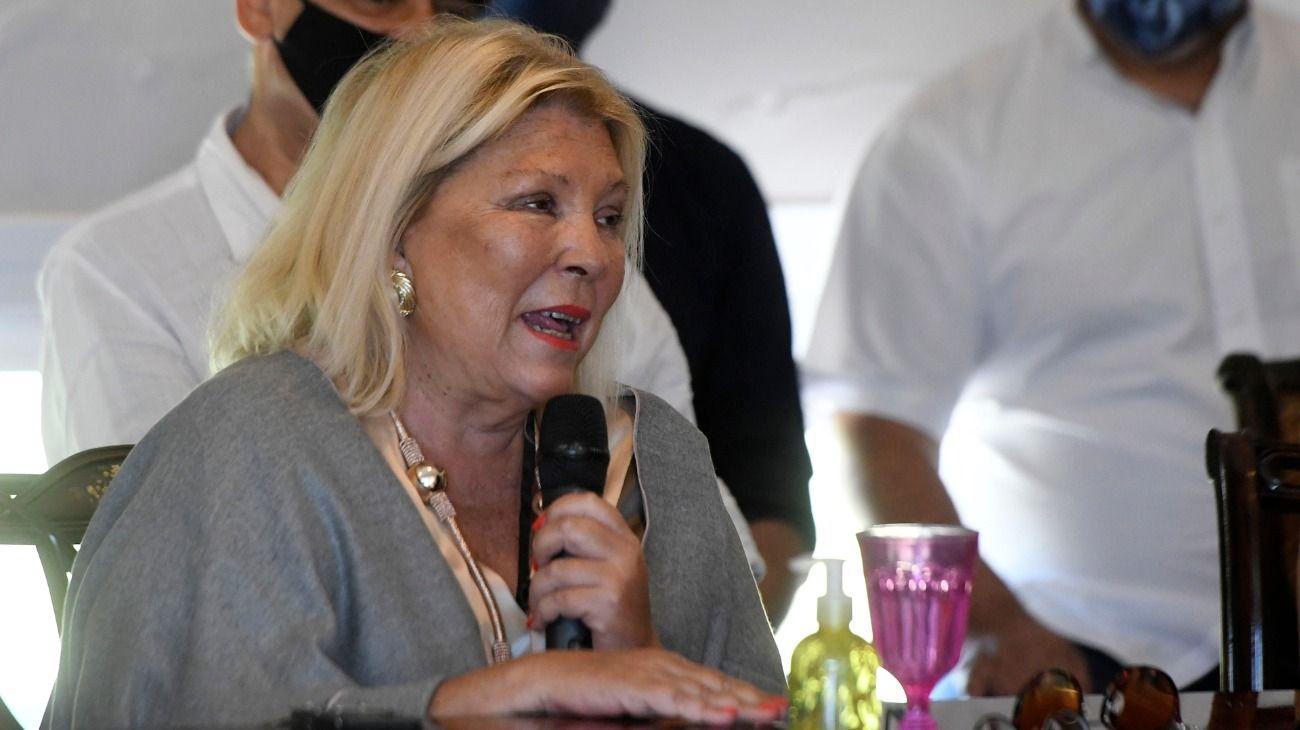 La referente de la Coalición Cívica, Elisa Carrió, presentó este martes 8 de diciembre un libro sobre su labor como diputada nacional.