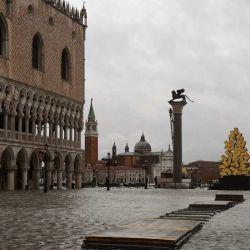 Las fuertes lluvias que azotan Italia han inundado parcialmente Venecia