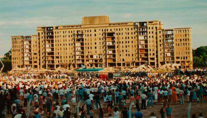 Albergue Warnes - Día de la demolición